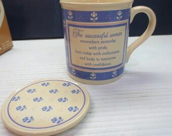 Vintage 1985 Hallmark Mug Mates Coffee Mug Cup Successful Woman