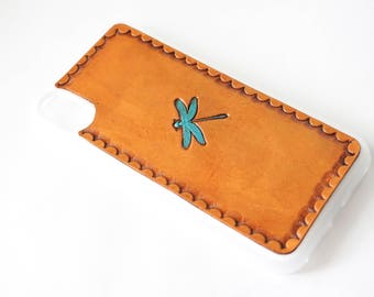 Leather iPhone 8 Plus Case | Dragonfly