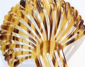 Faux Tortoise Shell Celluloid Hair Comb Mantilla 1910s Edwardian Backcomb Topcomb Wedding Comb  Late Art Nouveau Early Art Deco Fashion