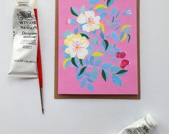 Flower A6 Card