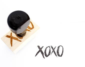 XOXO stamp | Wooden Handle stamp | Hugs and Kisses Stamp | Snail Mail Stamp