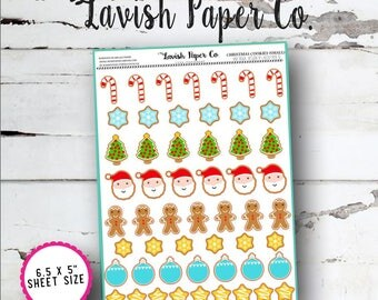 Christmas Cookies (small) Planner Stickers by Lavish Paper Co. | for Erin Condren, Happy Planner, Mormon Mom, inkWell Press, SewMuchCrafting