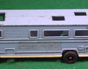 Vintage Tootsietoy blue RV Camper Winnebago Motorhome
