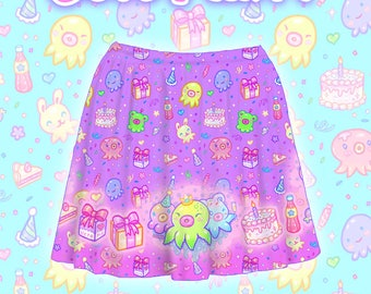 "Purple ""OctoParty"" Skirt"