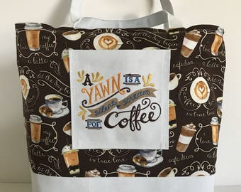 Silent Scream for Coffee Reversible Everyday Tote Bag