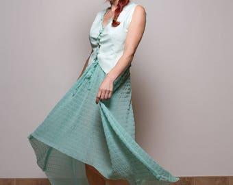 Asymetric Maxi Skirt, Maxi skirt, Maxi Boho skirt, Boho skirt, Long skirt, Festival skirt, Maxi dress, Blue Tulle Skirt, Tulle Skirt, Custom