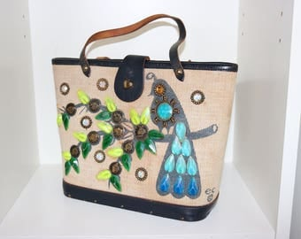 Vintage 50s 1950s original Enid Collins Money Tree novelty handbag
