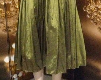 Exquisite  vintage full skirt bustier pleated waist dress