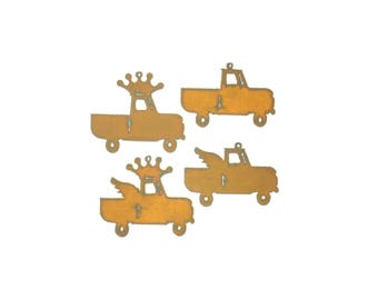 Trucks Rusty Metal Ornament Assortment