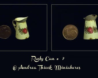 Miniature Rusty Can - 1-12 scale OOAK