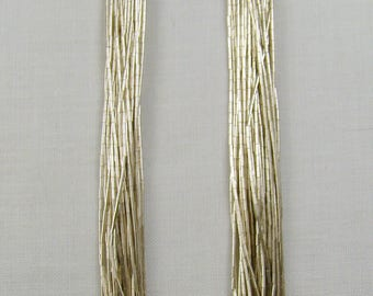 """Lovely Sterling 30 Strand Liquid Silver Necklace ~ 30"""" Long"""