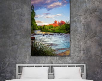 Fine Art Nature Photography - Original Nature Photography Prints and Landscape Photos - Sedona Cathedral Rock Red Rock Crossing Sunset