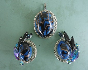 Vintage Earrings and Pendant Set