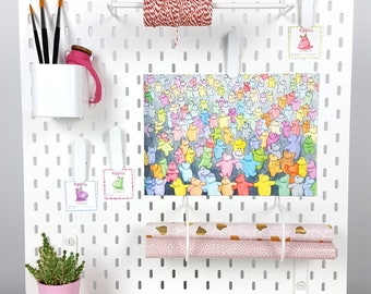 Watercolor print hippos A4 Time to party! Colorful illustration -Digital print cute animal illustration - Kids art - Fun art dancing animals