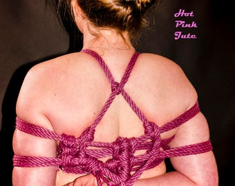 6 Hanks of Beautiful 6mm X 28 feet unprocessed Purple, Red, Black, 2 Ply Gold or 2 ply Silver Jute Shibari Bondage Rope