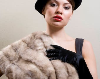 Black Magic Felt Top Hat Vintage Style Victorian Gothic  Art Deco Costume Burlesque Pin Up