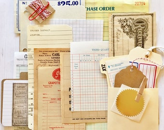 Vintage Office/Business/Work Paper Ephemera Pack/25+ Pieces