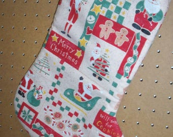 Christmas Stocking, lined with Hanger