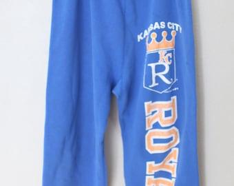 vintage blue & yellow kansas city royals MLP baseball sweatpants sweats