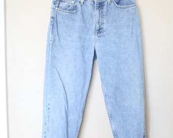 vintage  1980's high rise waist distressed mom  jeans denim 30