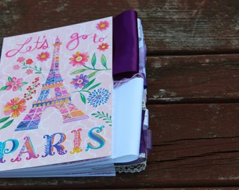 Let's Go to Paris Altered Journal