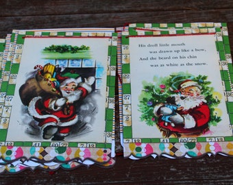 Twas the Night Before Christmas Storybook Bunting (VINTAGE)