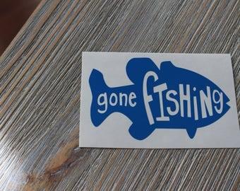 Gone Fishing decal -  Gone Fishing - Fishing Decal - Hunting Decal - Fishing Sticker - Fishing Car Decal - Truck Decal - Laptop Decal
