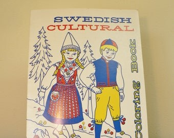 swedish culture coloring book vintage coloring book swedish life swedish culture childrens - Vintage Coloring Books