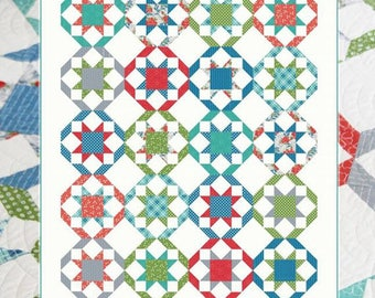 PROMENADE Quilt Pattern #155 by Cluck Cluck Sew - 3 Sizes - For Intermediate Quilters or Beginners with Piecing Experience (W4355)