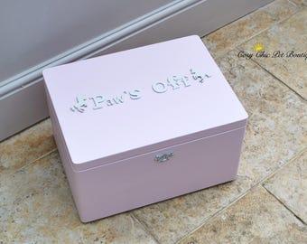 Unicorn Dog Toy Box - Cat Toy Box - Paws Off Pink Pet Storage - Lidded Toy Box - Dog Toy Tidy - Pink Cat Toy Box - Pink Dog Toy Box - Pet