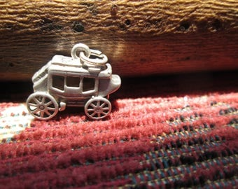 Vintage Sterling Silver Stage Coach Charm