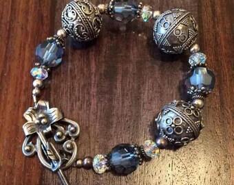 Swarovski Crystal & Sterling Silver Bracelet