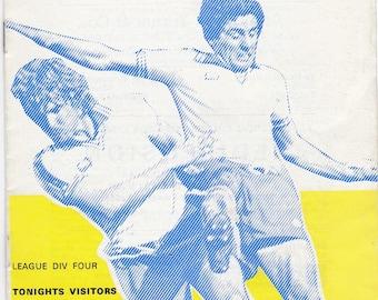 Vintage Football (soccer) Programme - Halifax Town v Reading, 1977/78 season