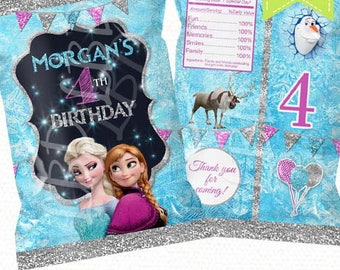 """Frozen Treat Bag, Candy Bag, Chip Bag, Party Bags 