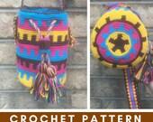Mochila Rayas Crochet Pattern, Small Mochila, Written Pattern, Graph Pattern, Crochet Purse, Crochet Bag, Geometric Purse, Cross Body Bag
