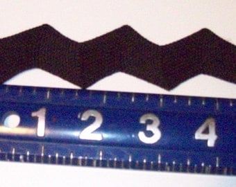 GIANT 1 and 1/4 inch Black Rick Rack