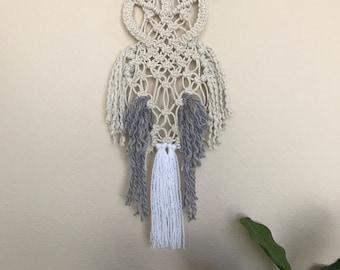 Macrame Owl Wall Hanging, Boho Wall Hanging