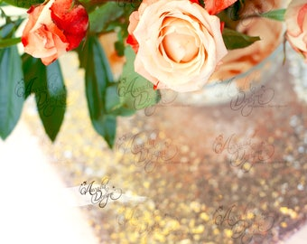 Luxury Square Sequin Placemat | Rose Gold Sparkle Centerpiece Table Décor for Wedding Bridal Shower Holiday Event Birthday Party Reception
