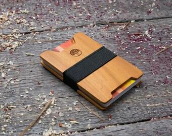 Premium Wood wallet, Kusia wood, Slim Minimal Wallet, Wooden wallet, Credit card holder, boyfriend gift, Personalized wallet insert card