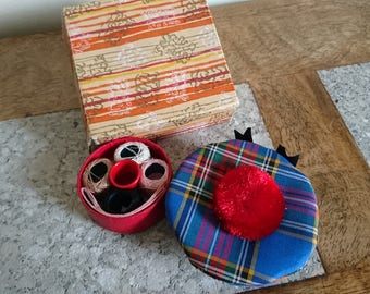 Scottish Tam Vintage Sewing Kit - Travel Kit - Scotland