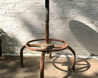 Industrial Stool / features vintage / metal drafting stool / rusty / Adjust Rite / home decor