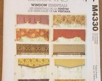 McCall's 4330 - Easy Window Valance and Cafe Curtain Pattern