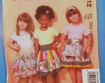 McCalls 7312 - Girl's Skirt Pattern - Sizes 7, 8, 10, 12, and 14