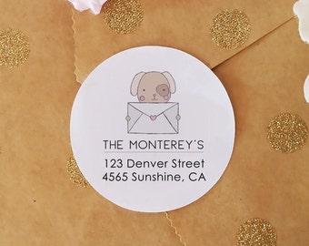 Custom Return Address Stickers, Personalized Stickers, 45 Correspondence Stickers