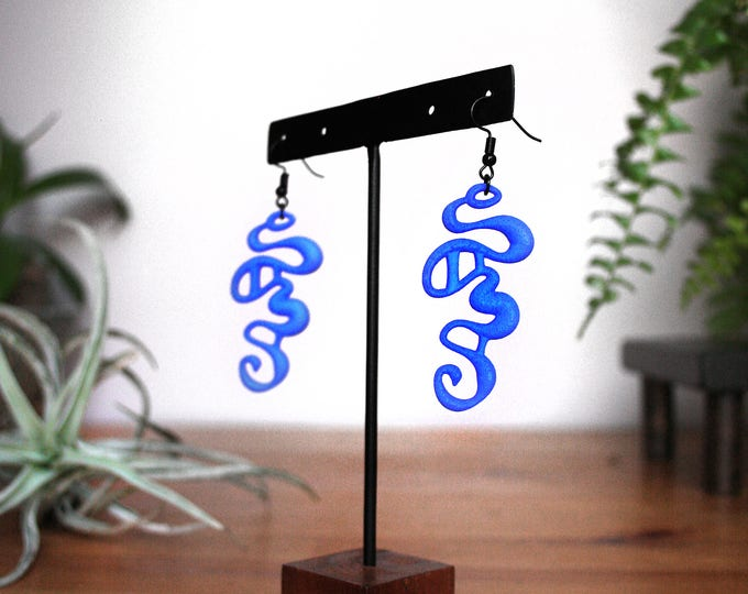 """""""Rivulet"""" Earrings in Blue"""