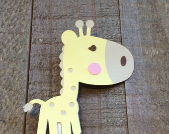Giraffe Cupcake Topper KZoo Animal Critter Birthday Baby Shower Decor Decoration