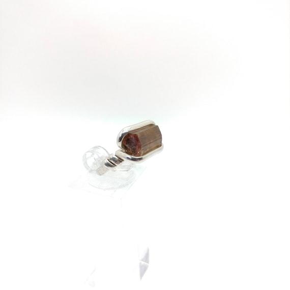 Raw Watermelon Tourmaline Ring | Sterling Silver Ring Sz 6 | Rough Tourmaline Ring | Uncut Gemstone Ring | Raw Tourmaline Jewelry | Bicolor