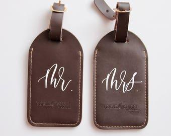 Mr. and Mrs. Luggage Tags | Honeymoon Luggage Tags | Bridal Shower Gift |Wedding Gift |Custom Wedding Gift |Travel Gift |Destination Wedding