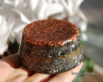 Orgonite®, LARGE Tower Buster, Orgone Generator®, Chem Buster, Shungite, High Density, Lots of metal shavings, EMF Protection