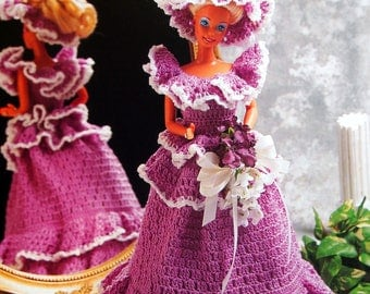 Bridesmaid By Florence Jansen And Annie's Fashion Doll Crochet Club Vintage Crochet Pattern Page 1995